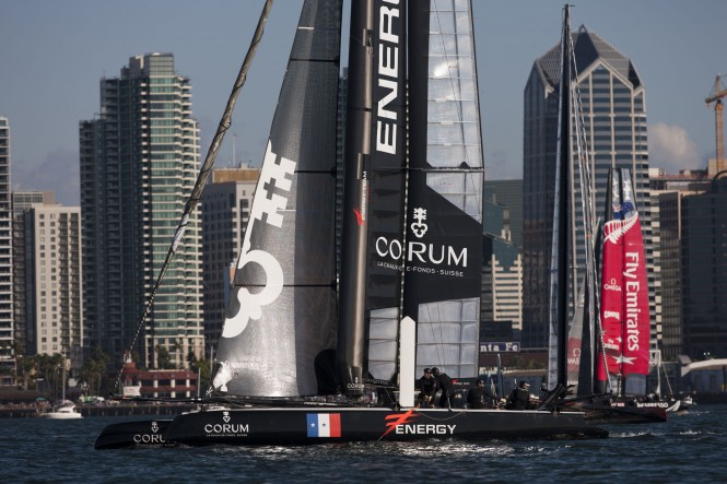 French Energy Team catamaran yacht Corum