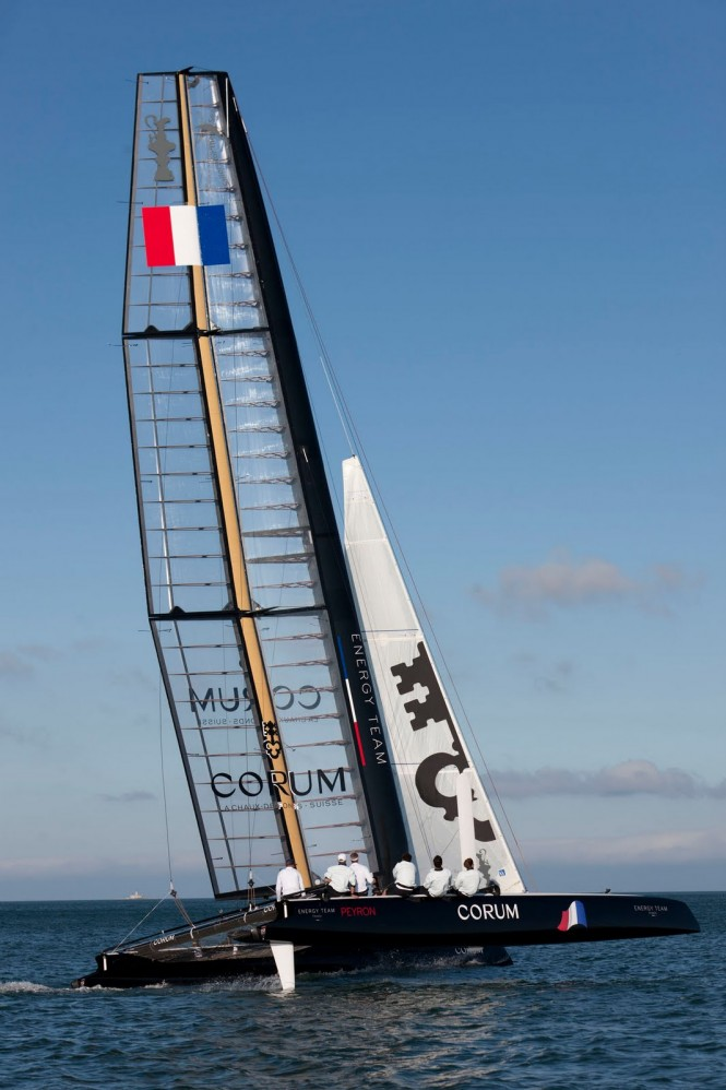 French Energy Team catamaran yacht Corum AC 45