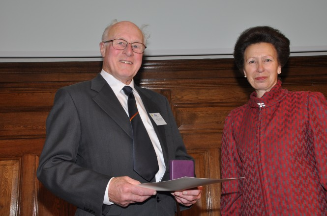 Jim Hartshorne awarded by HRH the Princess Royal