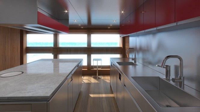 Luxury Aquos Series Motor Yacht Star Fish by McMullen & Wing - Galley