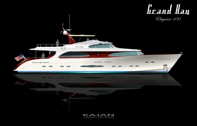 Luxury yacht ELEGANCE - white retro