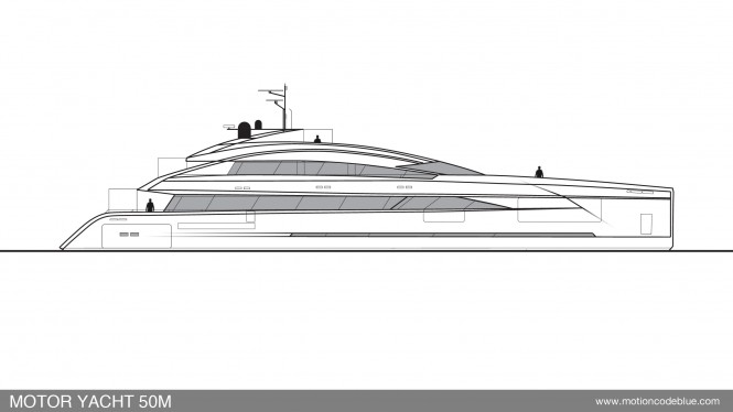 Motion Code Blue 50m Yacht design concept
