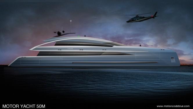 Motor Yacht MCB 50m design concept
