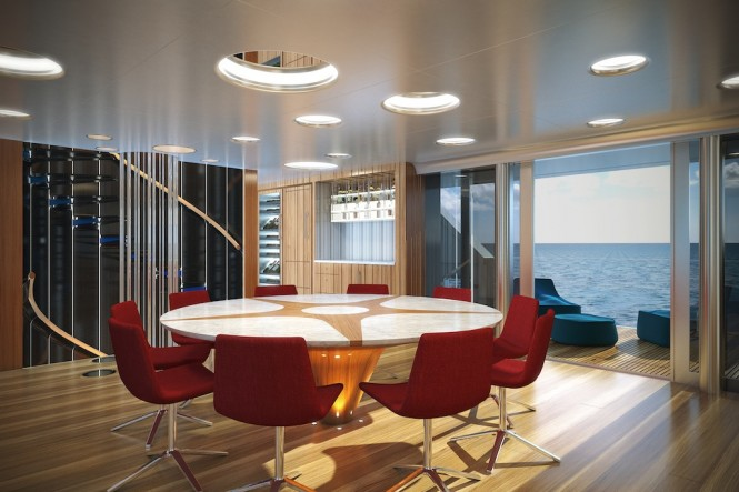 50m Expedition Motor Yacht STAR FISH by Aquos Yachts (McMullen and Wing) - Dining Salon