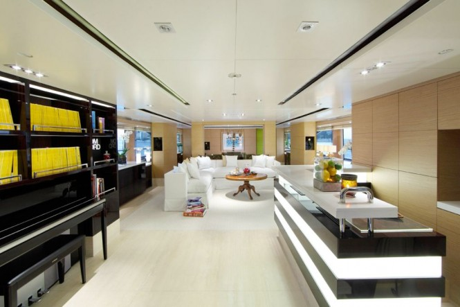 Superyacht TOLD U SO Main Salon by Moroli Design