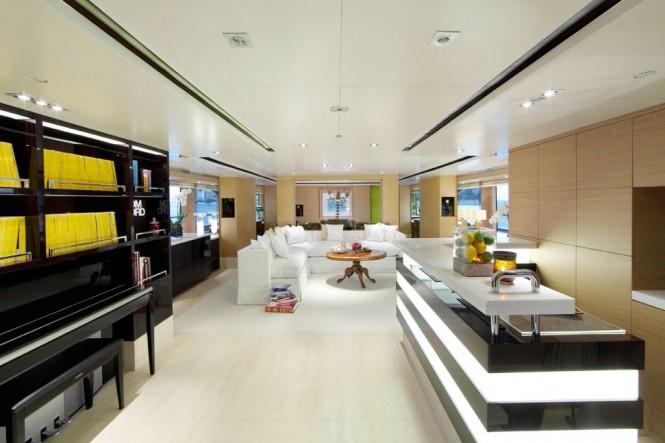 Superyacht TOLD U SO Main Salon by Moroli Design