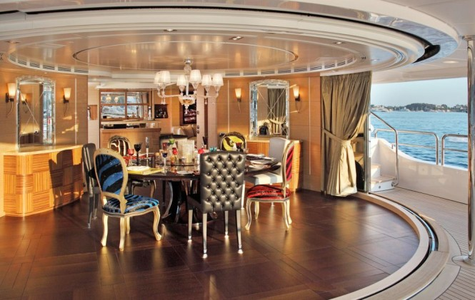Motor Yacht TOLD U SO - Open Air Dining
