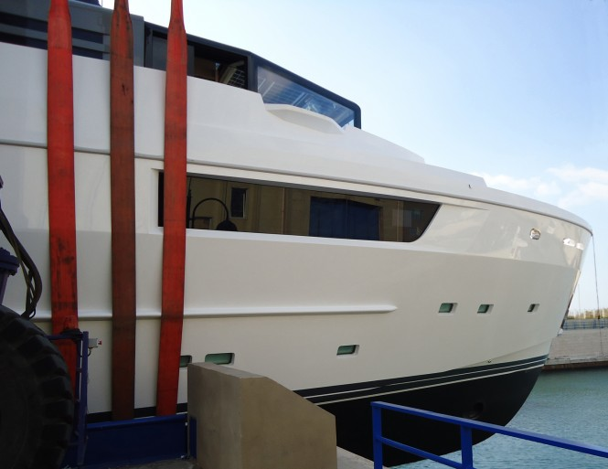 Motor yacht M'OCEAN - Arcadia 115 at her launch