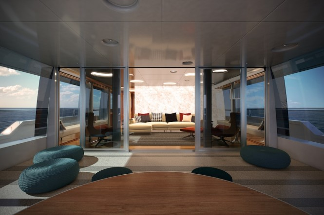 Owner's Aft Lounge at Sunset - Expedition Motor Yacht STAR FISH by Aquos Yachts