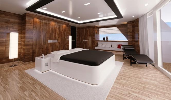 R & R superyacht´s VIP cabin