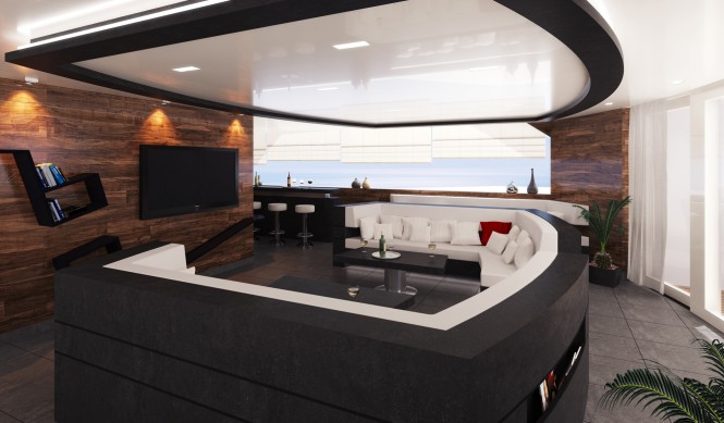 R & R superyacht´s lounge