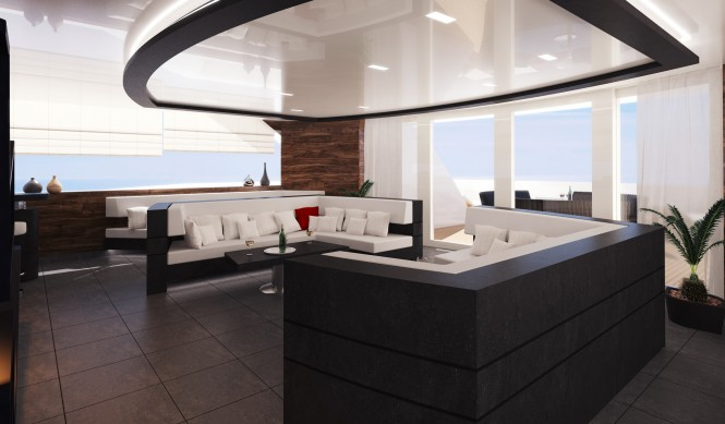 R & R superyacht´s luxury interior