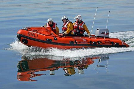 RNLI volunteers in action