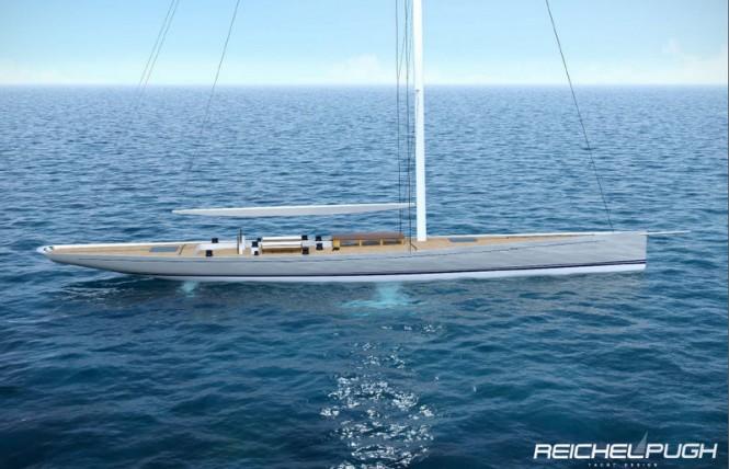 Sailing yacht Classic Racer 115 - Credit Reichel Pugh Yacht Design