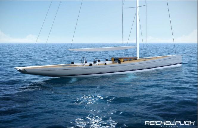 Sailing yacht Classic Racer 115 - sideview Credit Reichel Pugh Yacht Design