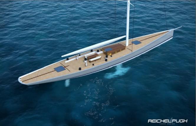 Sailing yacht Classic Racer 115 - upview Credit Reichel Pugh Yacht Design