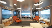 Star Fish Expedition Yacht - Owner's Aft Lounge - Aquos Series Yacht