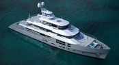 Star Fish expedition yacht aerial image - sistership to luxury explorer charter yacht BIG FISH