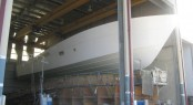 The new 23m motor yacht 75 Enclosed Flybridge hull is the largest ever built at the Riviera facility