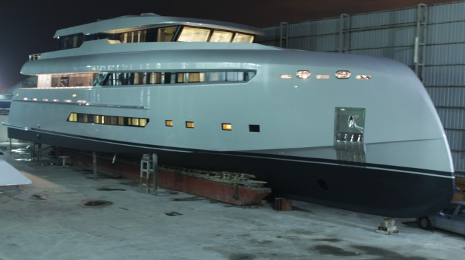 The striking 40m Project M Yacht by Bilgin Yacht designed by H2 Design