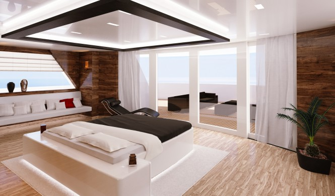 VIP cabin on R & R superyacht
