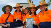 Volunteers from the Rotary club of Coomera River lend a hand at the Gold Coast Marine Expo