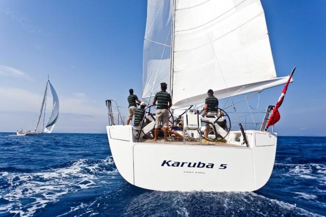 20m sailing yacht Karuba 5 - the Overall Winner of the 2011 Transatlantic ...