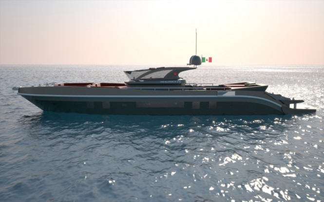 24 m Re-Set yacht by Francesco Corda of FJM Powerdesign
