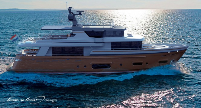 27.50m motor yacht Intec Marine 90 Hybrid designed by Guido de Groot