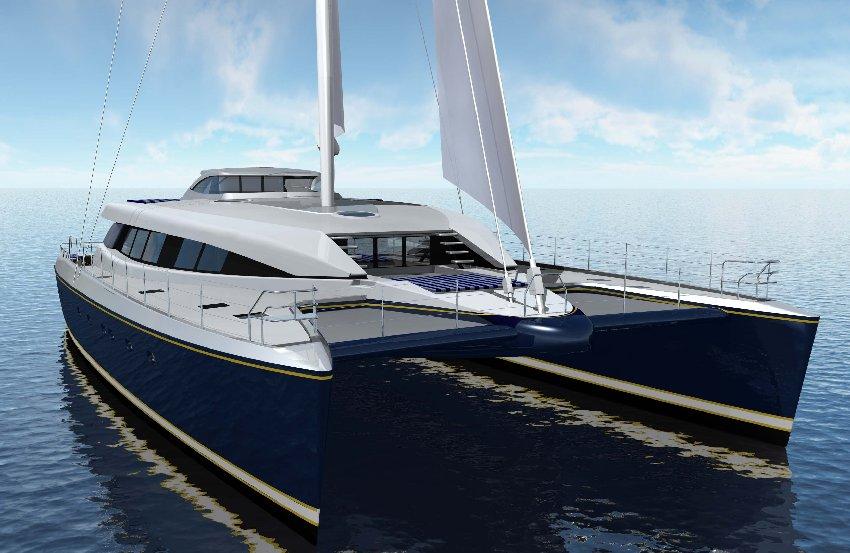 30m luxury sailing catamaran yacht q5 hull yd66 yacht for Catamarani di lusso