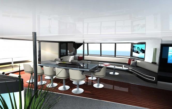 Porsche design luxury yacht charter superyacht news for Salon workspace