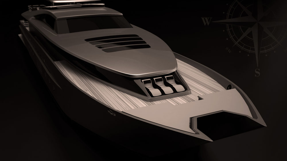 - 47m Super Cat 154 Yacht Concept by SFG Yacht Design & Management