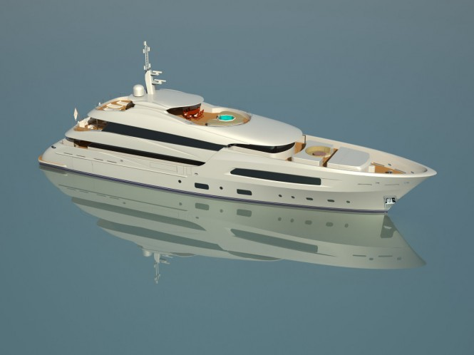 50m Superyacht - View from above