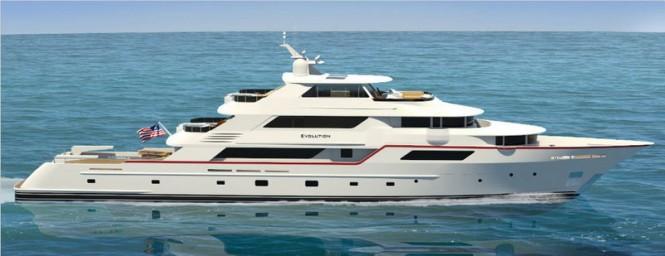 50m luxury explorer motor yacht Evolution by Trinity Yachts