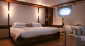 Christian Liaigre designed interior of the sailing yacht Rosehearty by Perini Navi