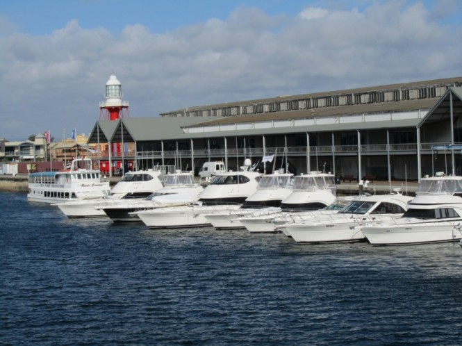 A fleet of 15 Riviera yachts ventured into the Port River for the inaugural Riviera Owners Club Christmas Party