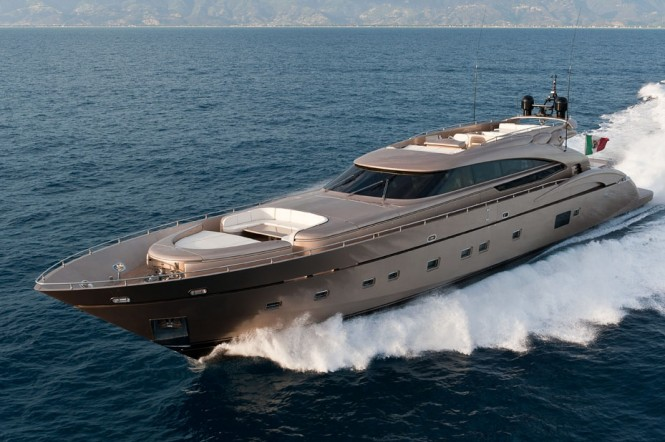 AB 116 motor yacht Blue Force One - Image credit AB Yachts