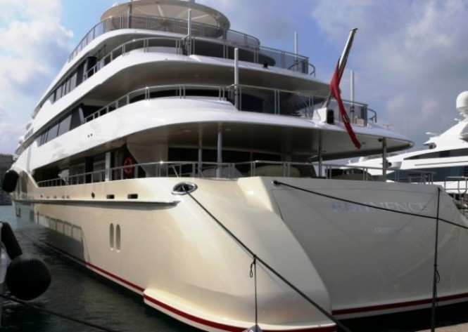 Abeking & Rasmussen sister ship to the 78m C2 superyacht - Aft view
