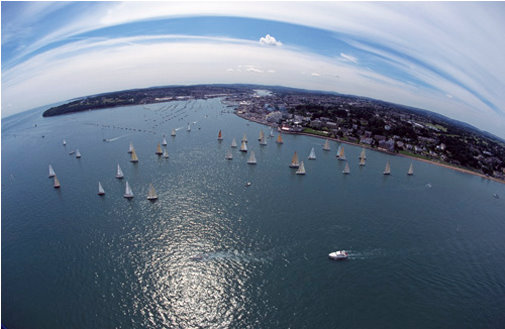 Aerial View of Cowes, Isle of Wight
