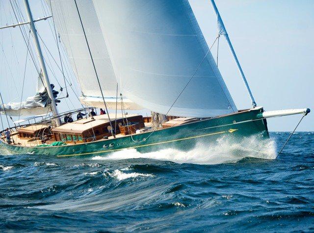 Baltic 67m Super Yacht HETAIROS - the winner of the 2011 Translatlantic Superyacht Regatta