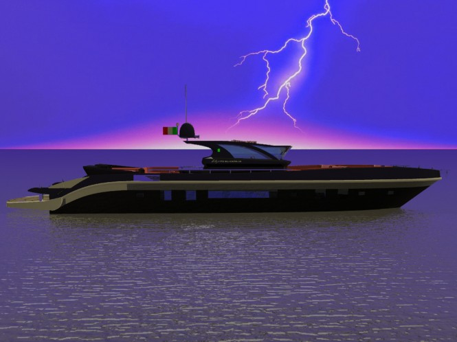 BlackSwan motor yacht Re-Set by Francesco Corda of FJM Powerdesign