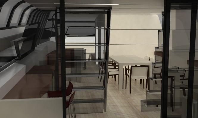 Blunt 118 Superyacht´s luxury interior