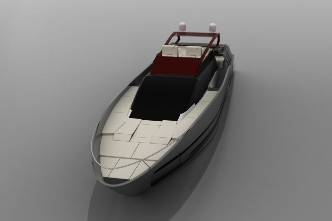 Cafiero super yacht Blunt 118 - frontview