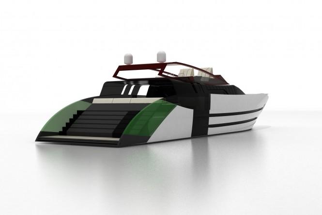 Cafiero super yacht Blunt 118 - rearview