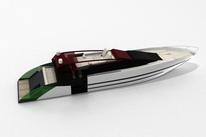 Cafiero super yacht Blunt 118 - upview