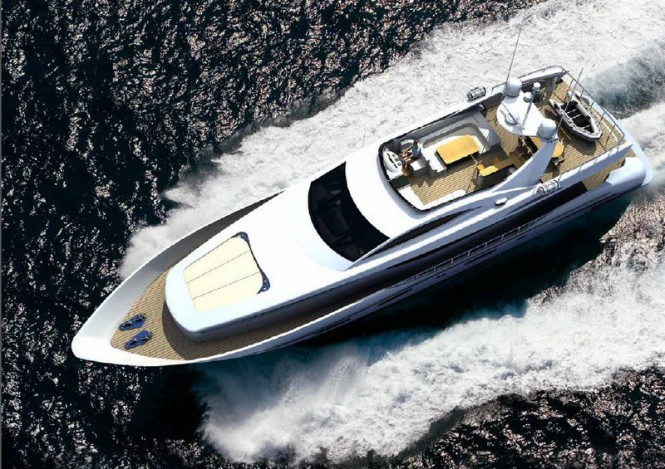 Electra superyacht - View from above