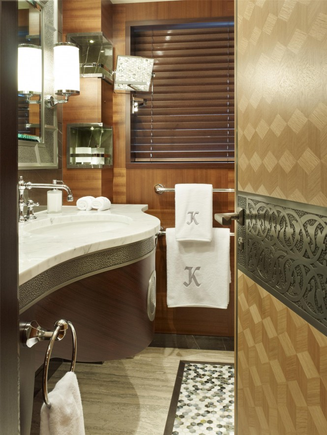 Guest Bathroom - Super Yacht Kaiser ©David Churchill