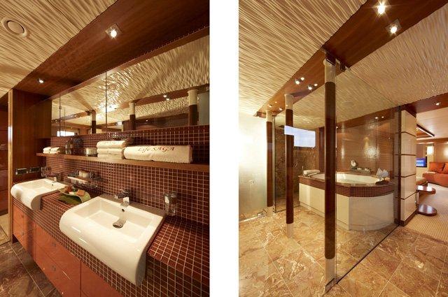 Heesen Super Yacht Life Saga´s beautiful bathrooms