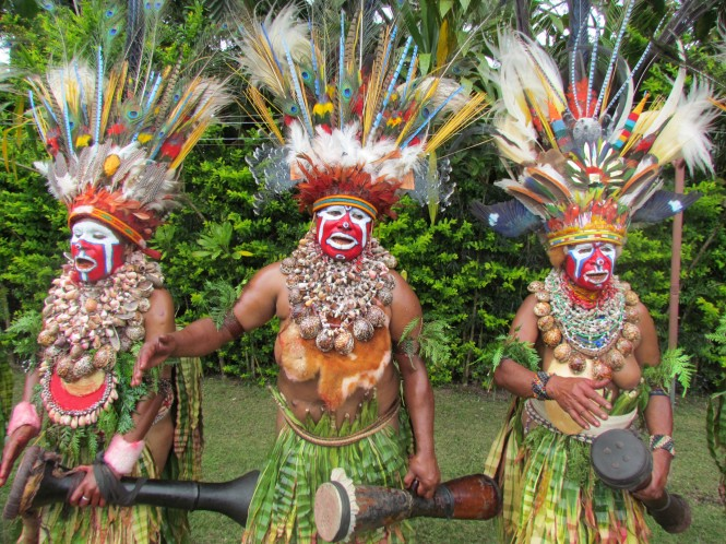 Image from the stunning Papua New Guinea yacht charter destination - welder-dancers