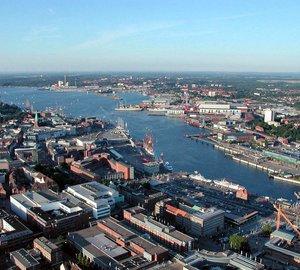 German Superyacht port KIEL hosting trimaran yachts MOD70 during the European Tour 2012